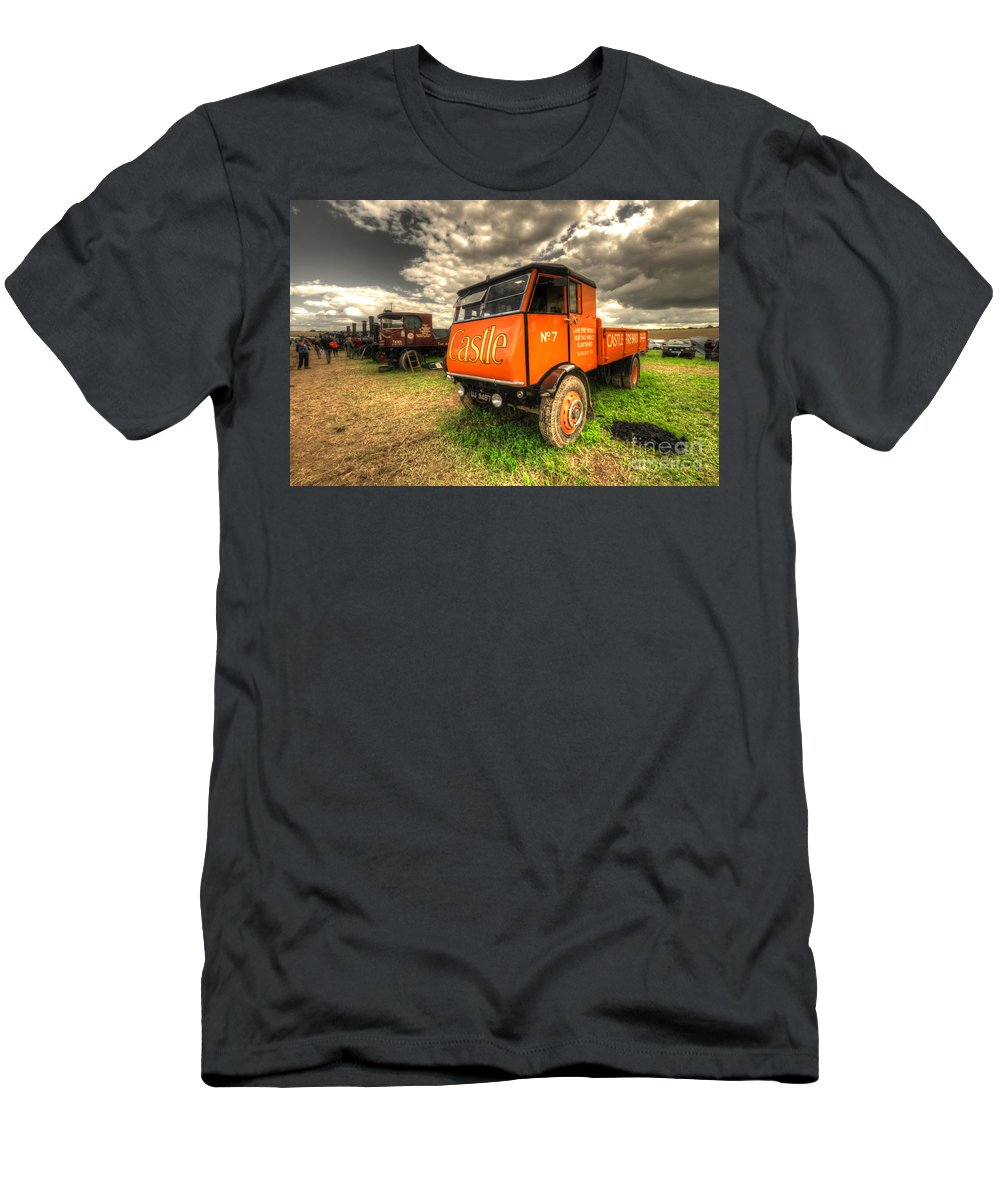 Sentinel Men's T-Shirt (Athletic Fit) featuring the photograph The Sentinel Wagon by Rob Hawkins