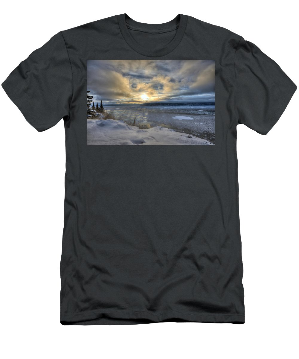 Solstice Men's T-Shirt (Athletic Fit) featuring the photograph The Shortest Day by Ted Raynor