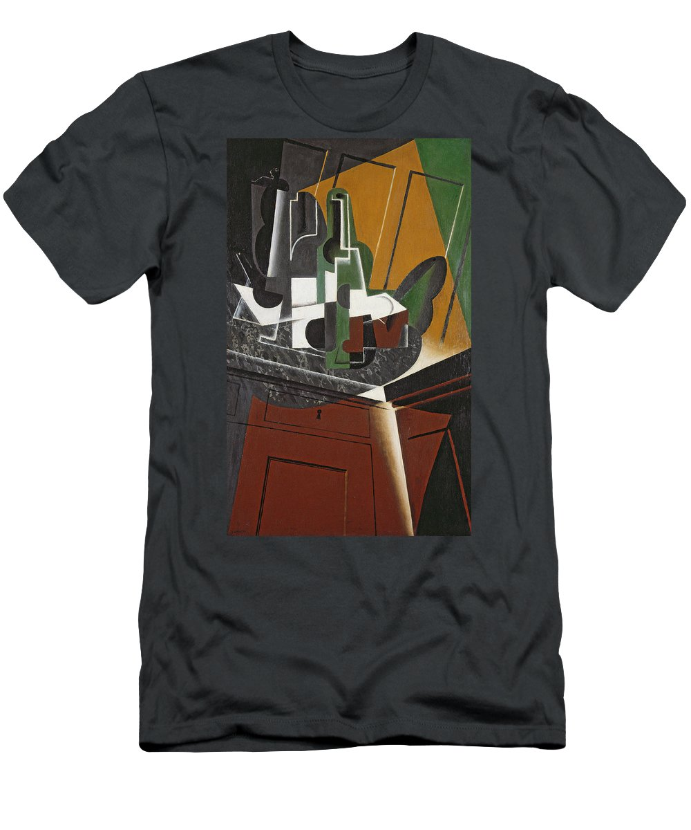 Cubist Men's T-Shirt (Athletic Fit) featuring the photograph The Sideboard, 1917 Oil On Plywood by Juan Gris