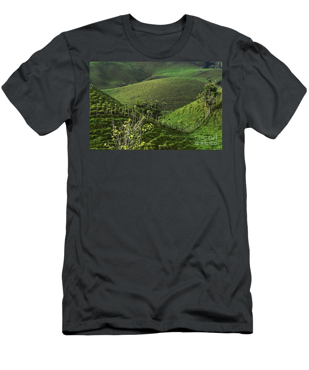 Heiko Men's T-Shirt (Athletic Fit) featuring the photograph The Soft Hills Of Caizan by Heiko Koehrer-Wagner