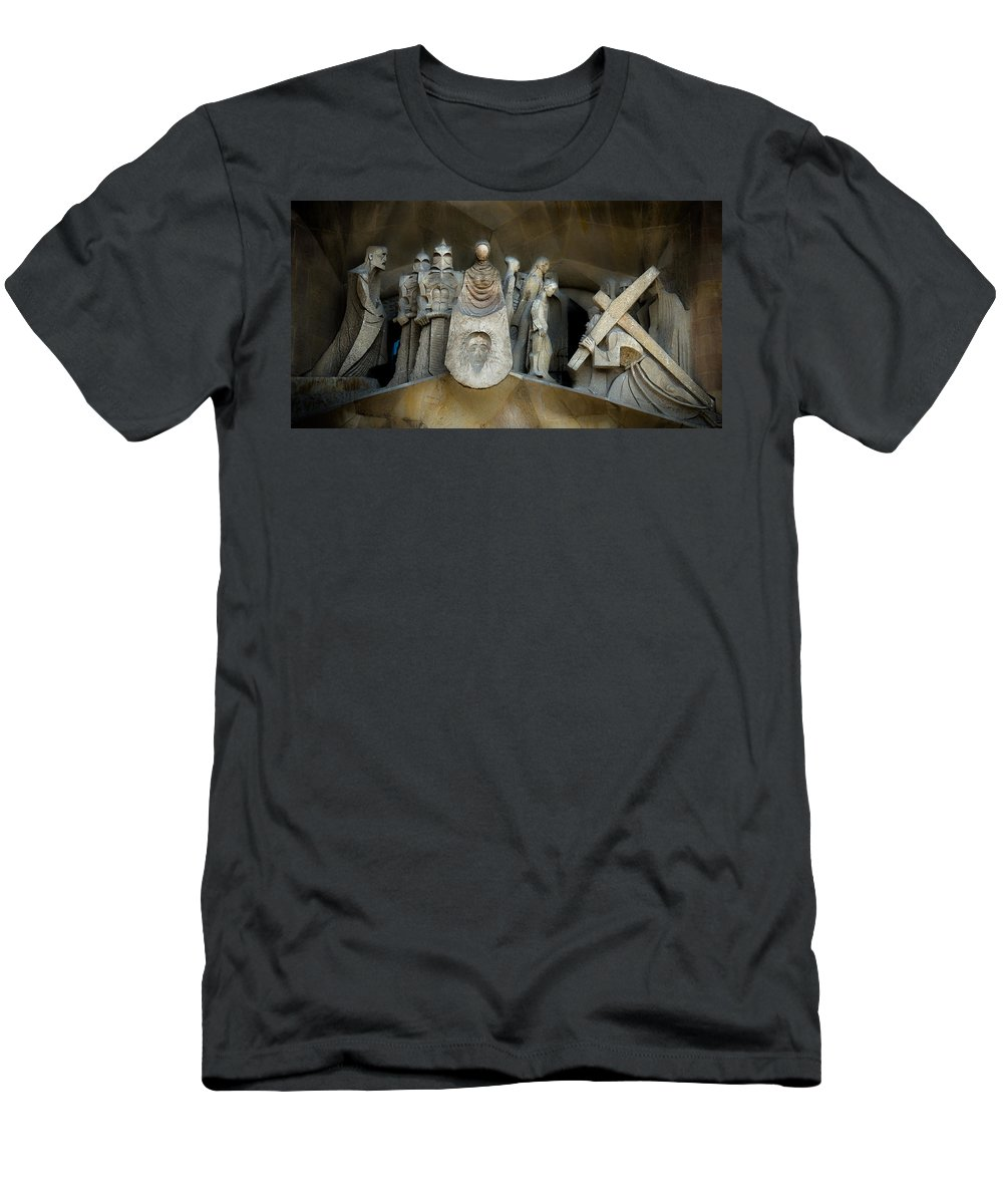 Stone Statue Men's T-Shirt (Athletic Fit) featuring the photograph The Story by Sotiris Filippou
