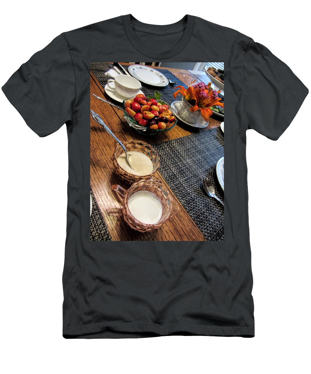 Tea Party Men's T-Shirt (Athletic Fit) featuring the photograph The Table Is Set - Y'all Come by Kathy Clark