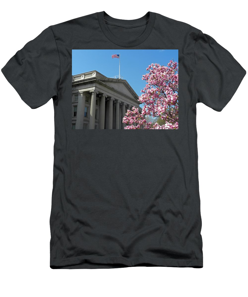 The Treasury Building Men's T-Shirt (Athletic Fit) featuring the photograph The Treasury Building by Dave Mills