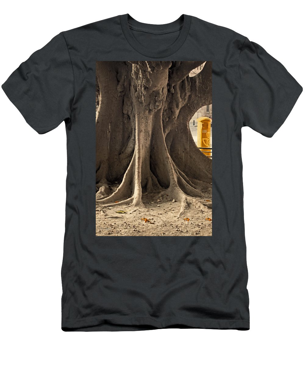 Tree Men's T-Shirt (Athletic Fit) featuring the photograph The Tree And The Post Box by Mary Machare