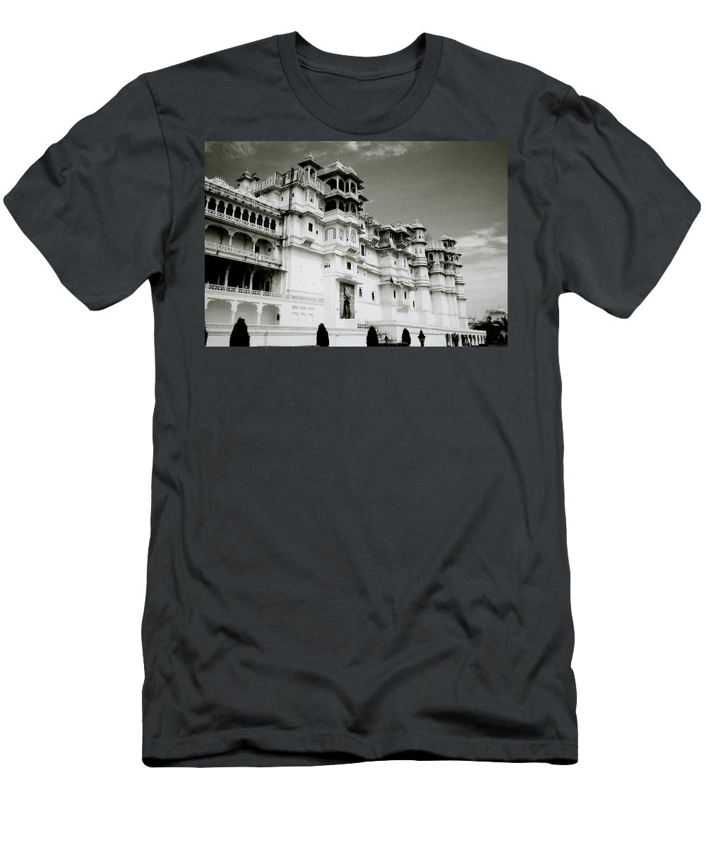 City Palace Men's T-Shirt (Athletic Fit) featuring the photograph The Udaipur City Palace by Shaun Higson