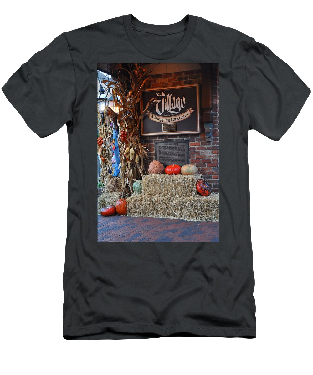 The Village Men's T-Shirt (Athletic Fit) featuring the photograph The Village by Brittany Horton