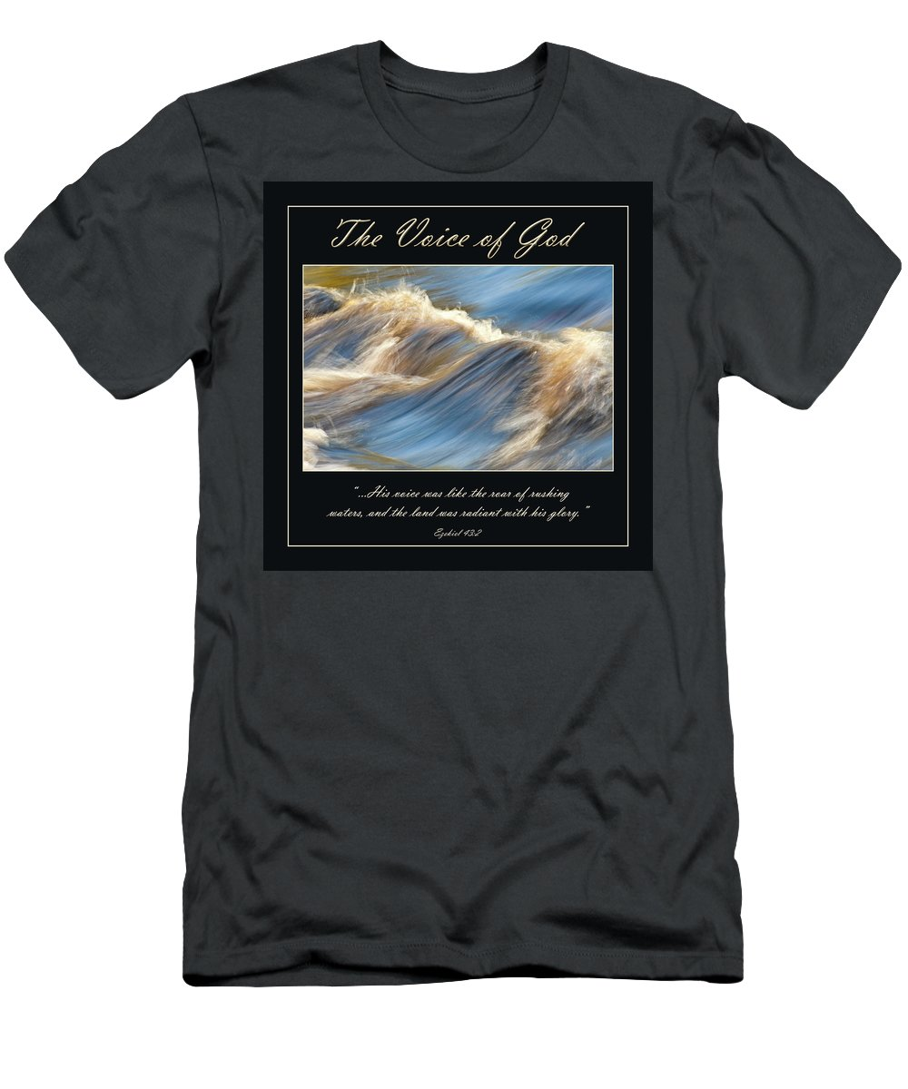 Water Men's T-Shirt (Athletic Fit) featuring the photograph The Voice Of God by Carolyn Marshall