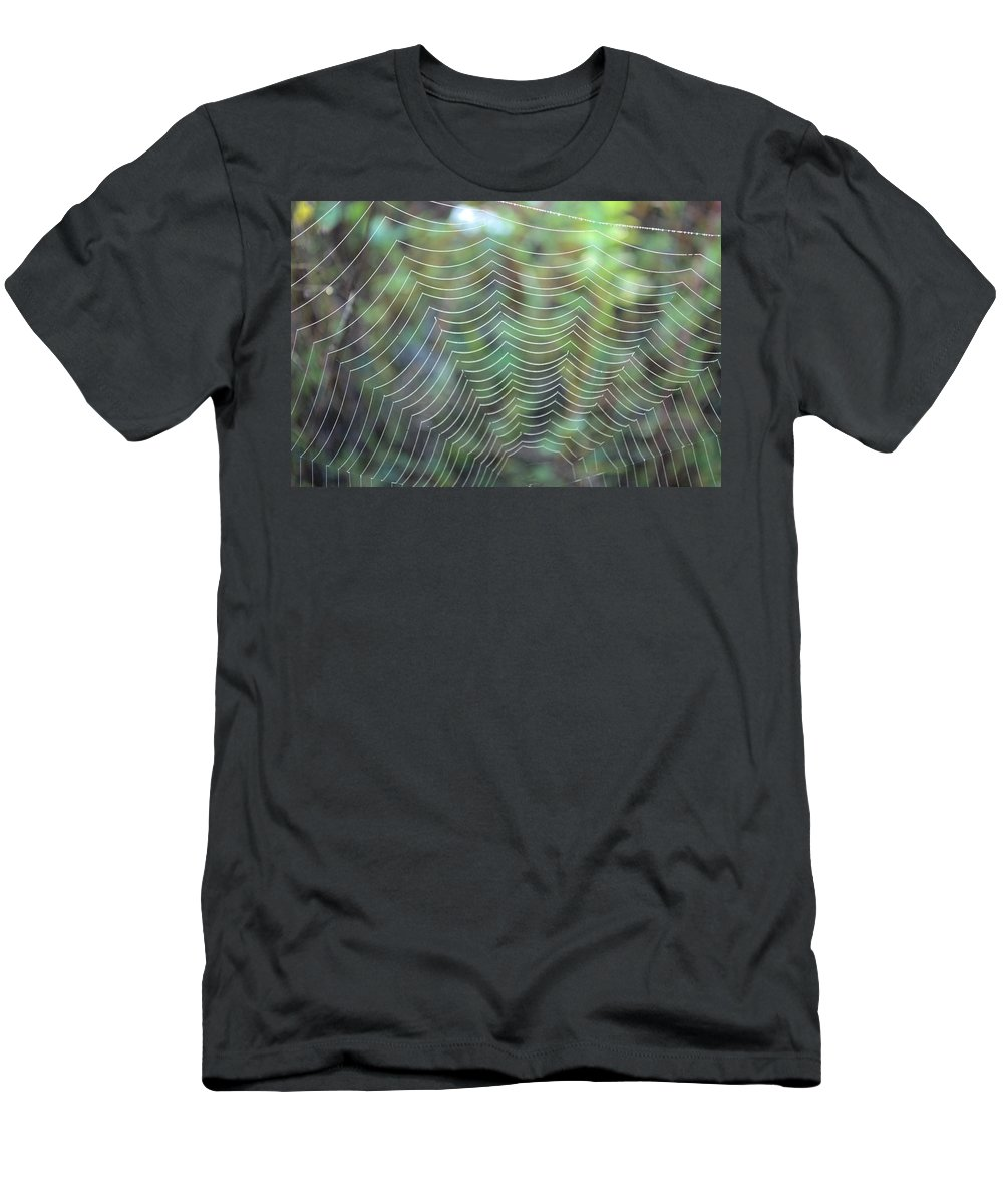 Abstract Men's T-Shirt (Athletic Fit) featuring the photograph The Web by Bonfire Photography