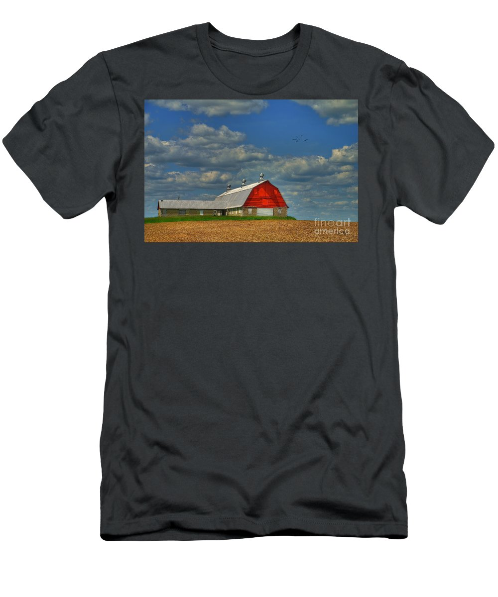 Landscape Men's T-Shirt (Athletic Fit) featuring the photograph Things Unnoticed At The Time by Lois Bryan