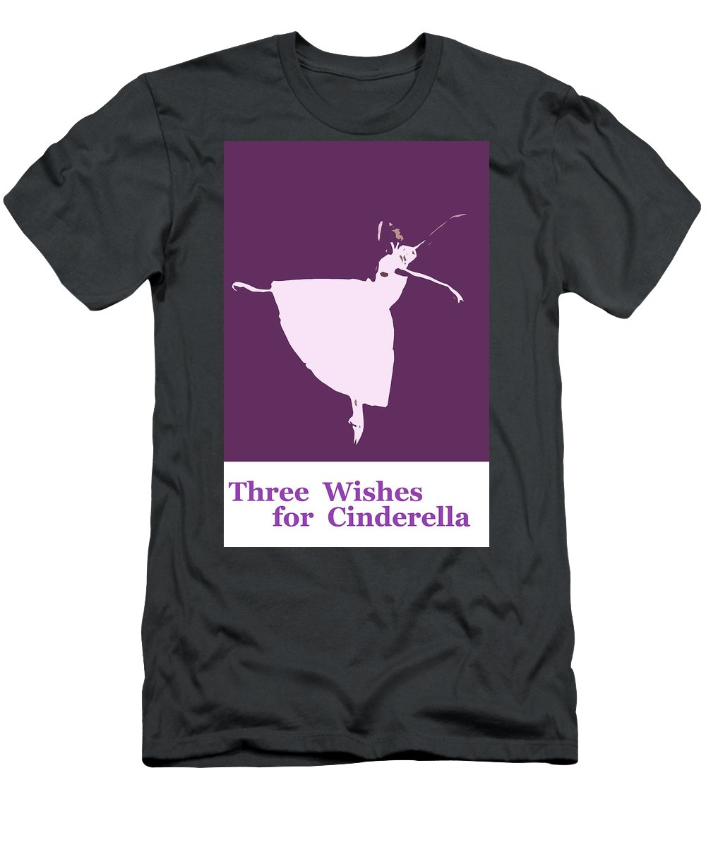 Three Wishes Cinderella Fairy Tale Fairytale Nuts Gifts Princess Dance Dancing Dancer Ballet Men's T-Shirt (Athletic Fit) featuring the painting Three Wishes For Cinderella by Steve K