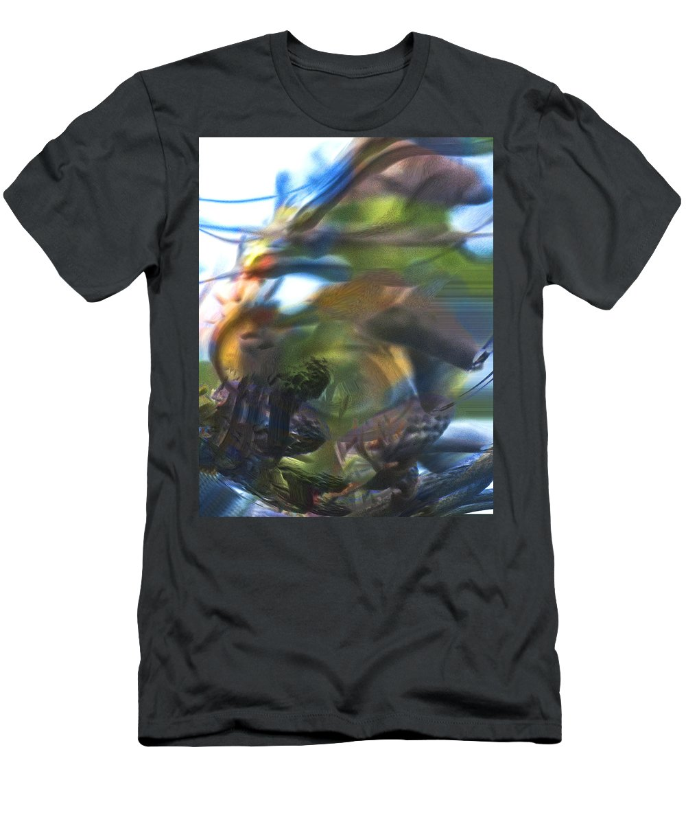 Abstract Men's T-Shirt (Athletic Fit) featuring the digital art Thus Was Told The Story Of The Serpent's Bite by Richard Thomas