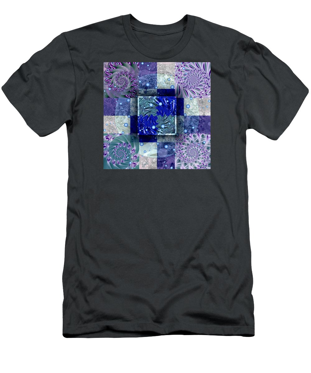 Tidepools Men's T-Shirt (Athletic Fit) featuring the digital art Tidepools by Kimberly Hansen