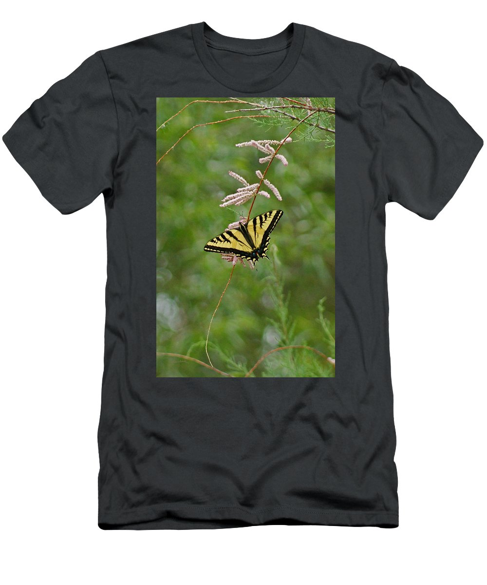Bugs Men's T-Shirt (Athletic Fit) featuring the digital art Tiger Swallowtail by Ernie Echols