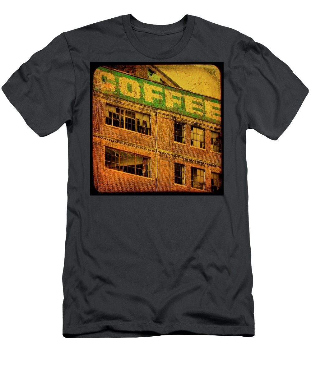 Urban Men's T-Shirt (Athletic Fit) featuring the photograph Time For Coffee by Gothicrow Images