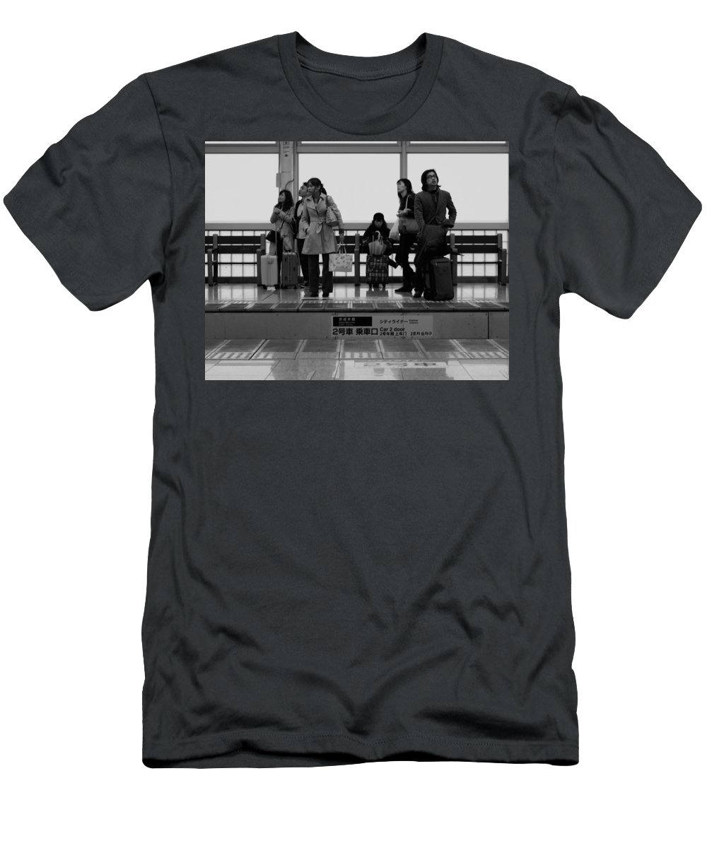 Travelers Men's T-Shirt (Athletic Fit) featuring the photograph Time Passes By by Miguel Winterpacht