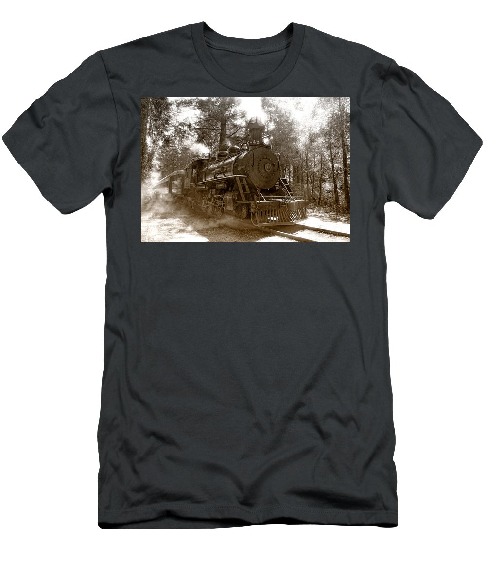 Locomotive T-Shirt featuring the photograph Time Traveler by Donna Blackhall
