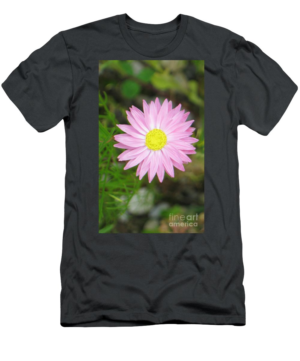 Flower Men's T-Shirt (Athletic Fit) featuring the photograph Tiny Lovely Shining Star by Heidi Sieber