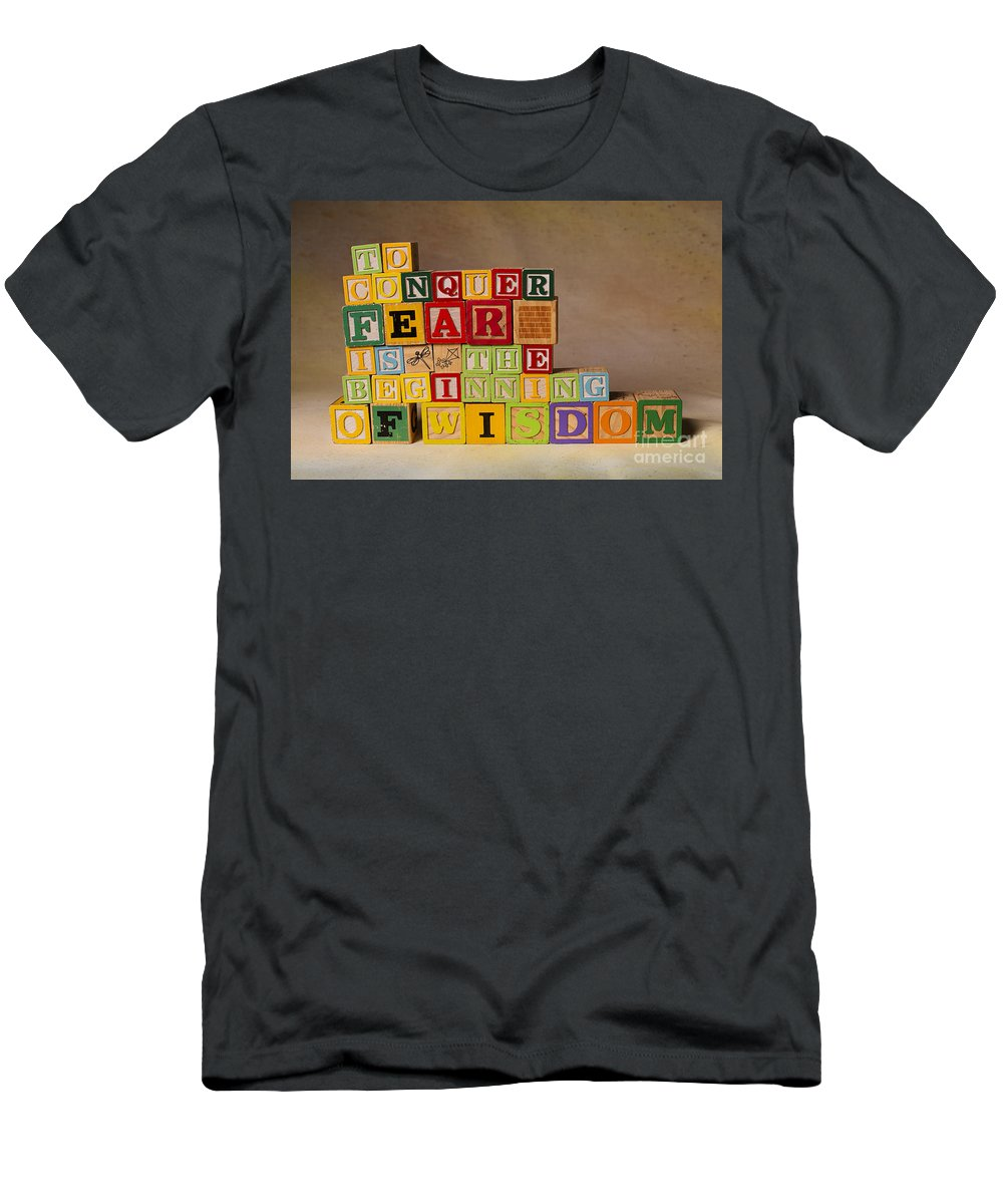 To Conquer Fear Is The Beginning Of Wisdom T-Shirt featuring the photograph To Conquer Fear Is The Beginning Of Wisdom by Art Whitton