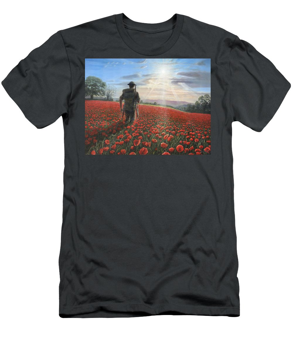 Landscape T-Shirt featuring the painting Tommy by Richard Harpum
