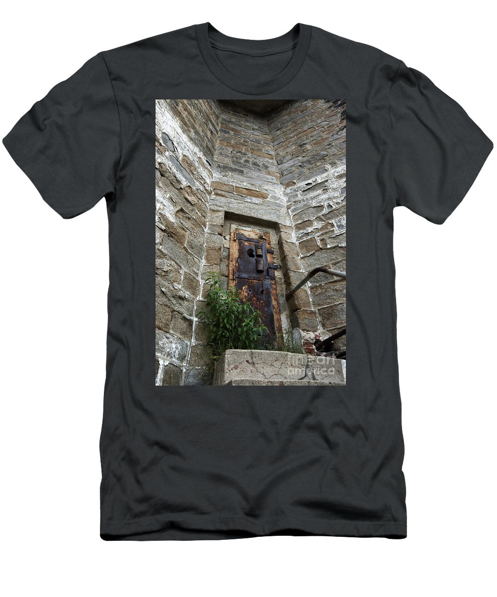 Tower Men's T-Shirt (Athletic Fit) featuring the photograph Tower Door by Paul W Faust - Impressions of Light