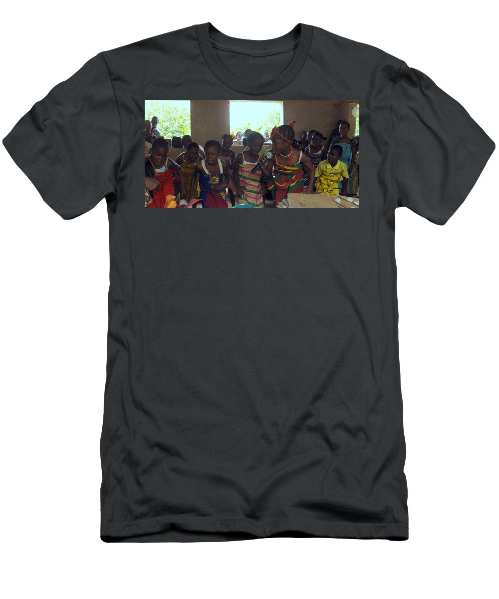 Nigeria Men's T-Shirt (Athletic Fit) featuring the photograph Traditional Dance And Singing by Amy Hosp