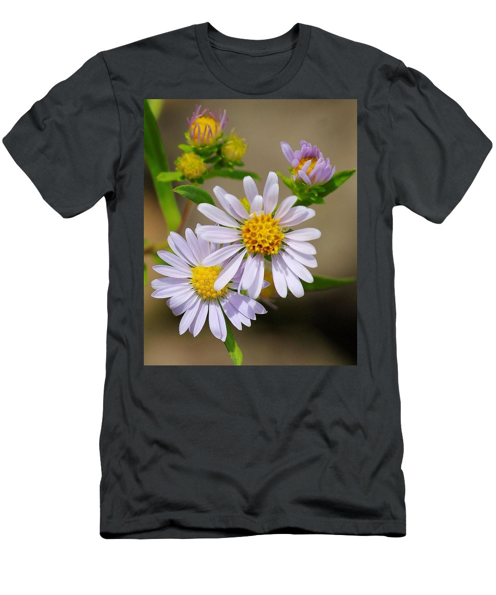 Wild Men's T-Shirt (Athletic Fit) featuring the photograph Trail Wildflowers by John Greaves