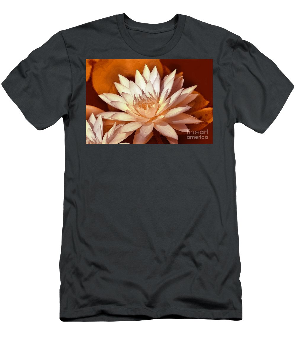 Water Lily Men's T-Shirt (Athletic Fit) featuring the digital art Tranquility by Paul Gentille