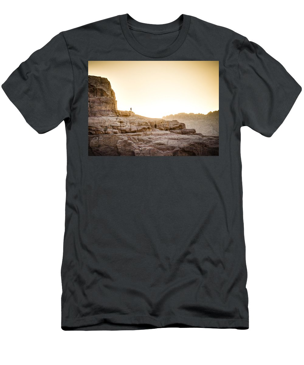 Petra Men's T-Shirt (Athletic Fit) featuring the photograph Traveler by Alexey Stiop
