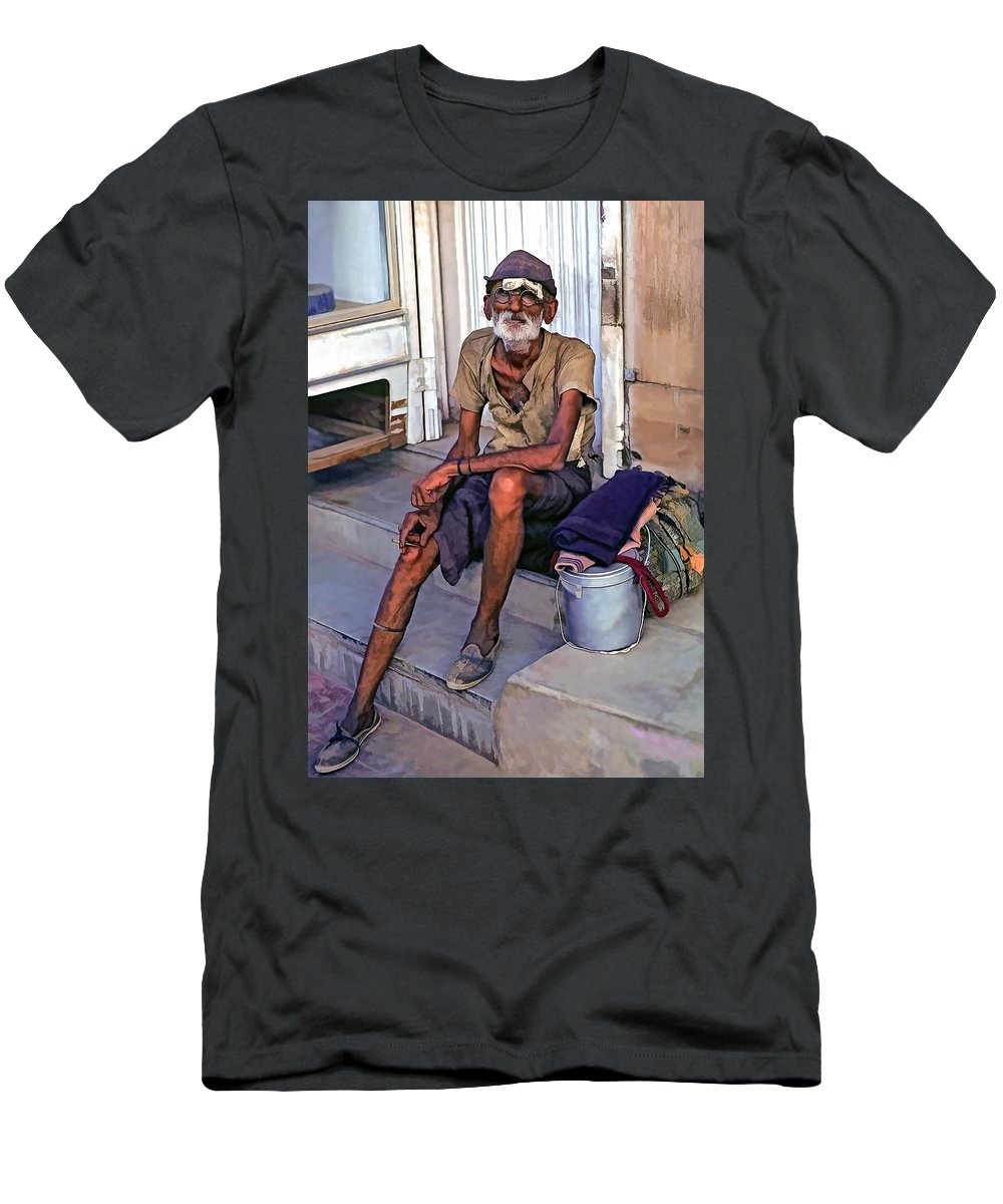 India Men's T-Shirt (Athletic Fit) featuring the photograph Travelin' Man II by Steve Harrington
