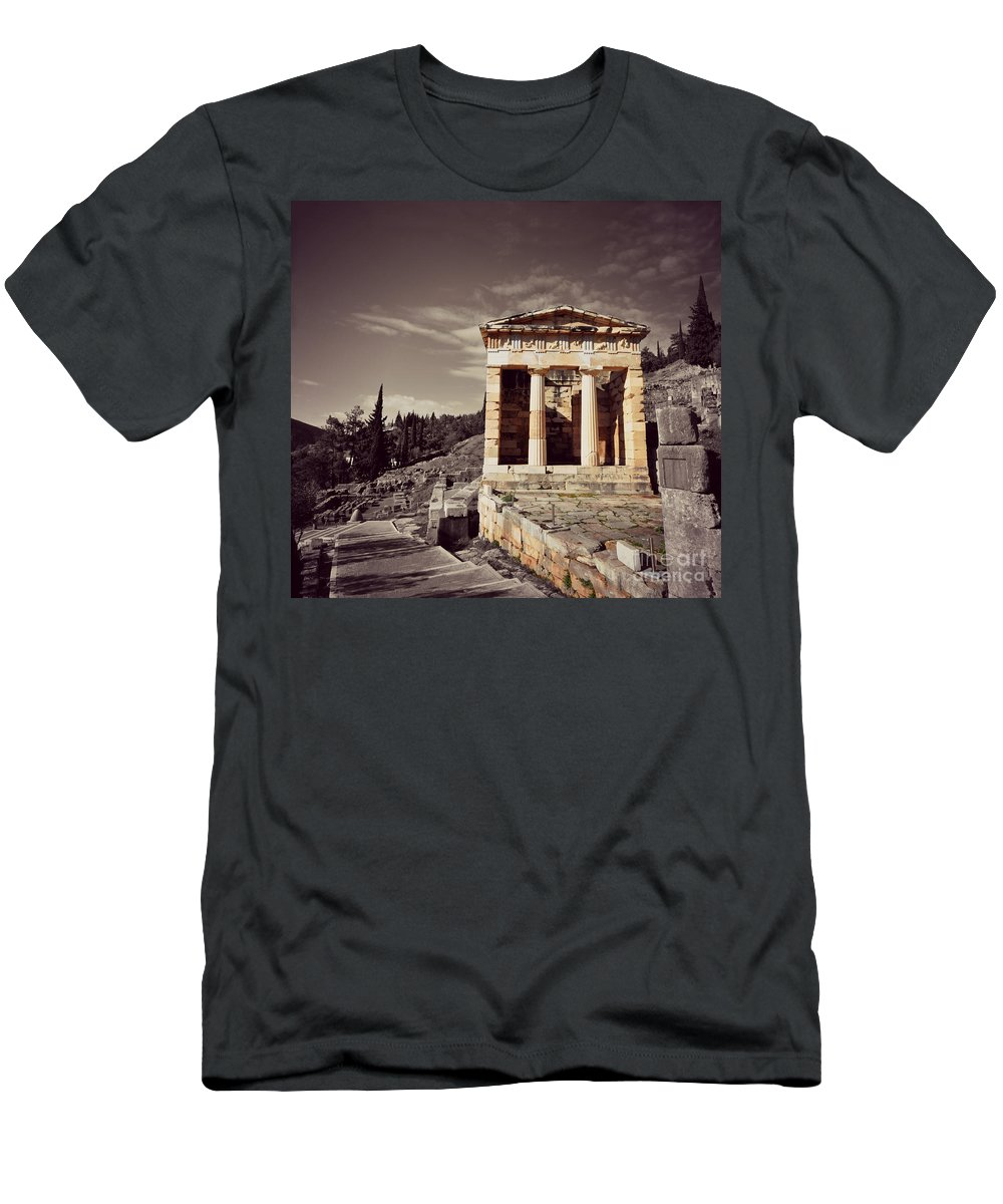Greece T-Shirt featuring the photograph Treasury Of Athens by Eric Liller