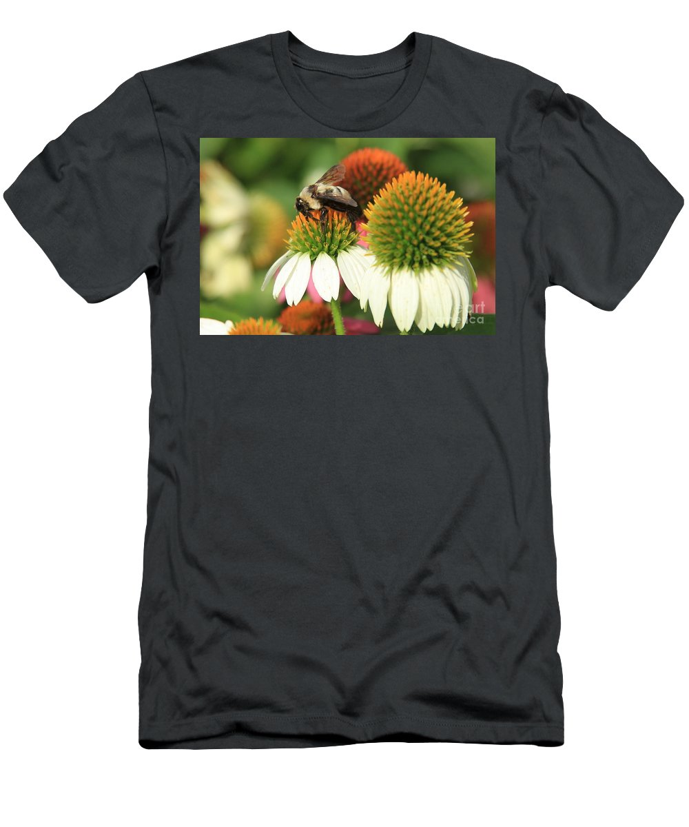 Flowers Men's T-Shirt (Athletic Fit) featuring the photograph Triple Duty by Reid Callaway