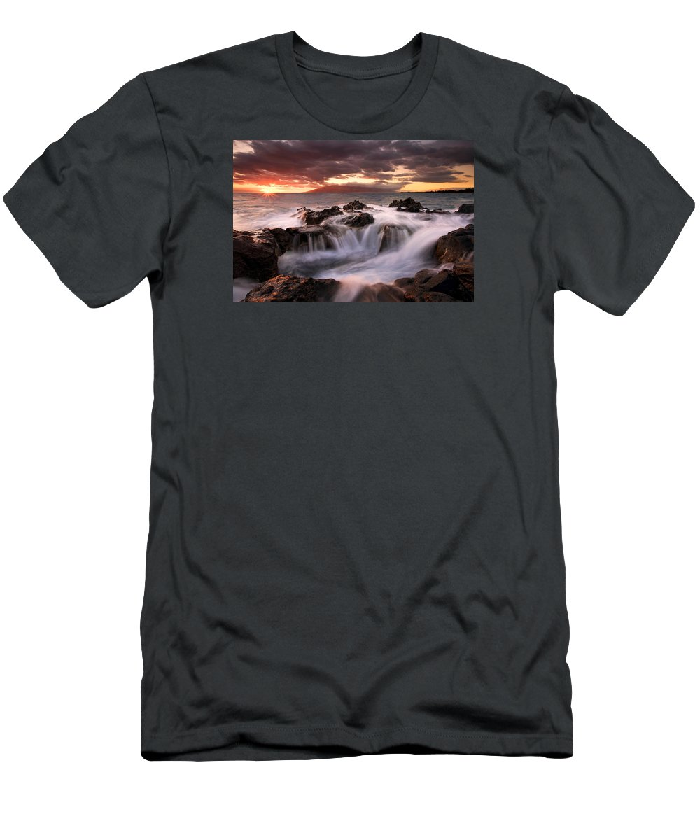 Hawaii Men's T-Shirt (Athletic Fit) featuring the photograph Tropical Cauldron by Mike Dawson