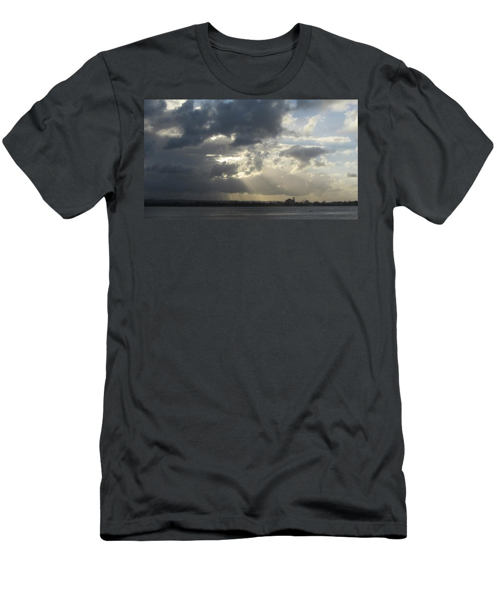 Puerto Rico Men's T-Shirt (Athletic Fit) featuring the photograph Tropical Stormy Sky by Anita Burgermeister