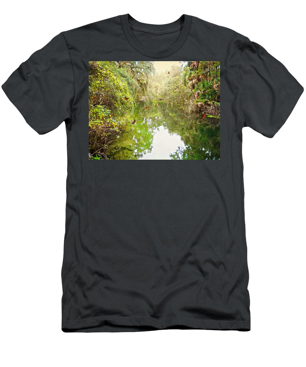 River Men's T-Shirt (Athletic Fit) featuring the photograph Tropical Treasure by Judy Hall-Folde