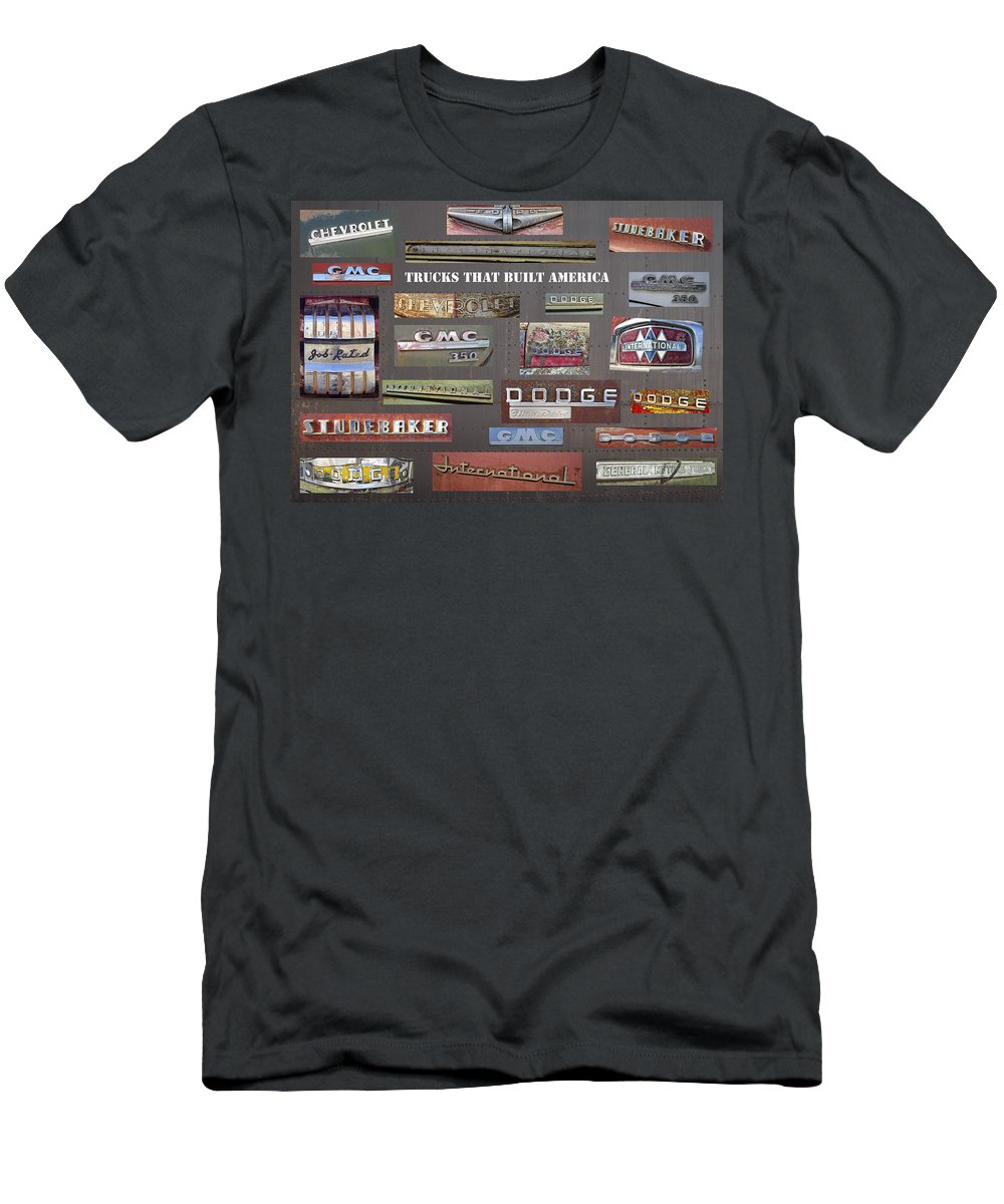 Studebaker Men's T-Shirt (Athletic Fit) featuring the photograph Trucks That Built America by Daniel Hagerman