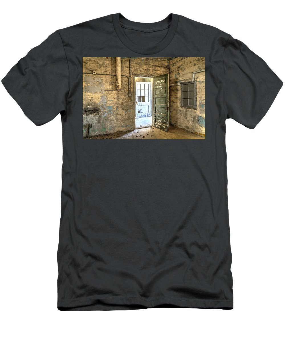 Doors Men's T-Shirt (Athletic Fit) featuring the photograph Trustee-2 by Charles Hite