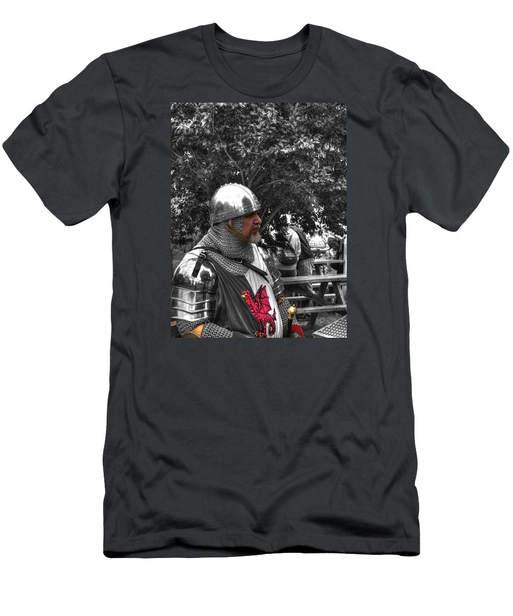 Renaissance Men's T-Shirt (Athletic Fit) featuring the photograph Tudor Knight In Armor V1 by John Straton