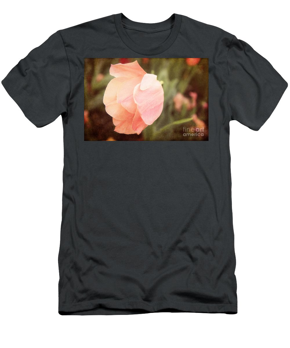 Tulips Men's T-Shirt (Athletic Fit) featuring the photograph Tulip Blush by Emily Kay