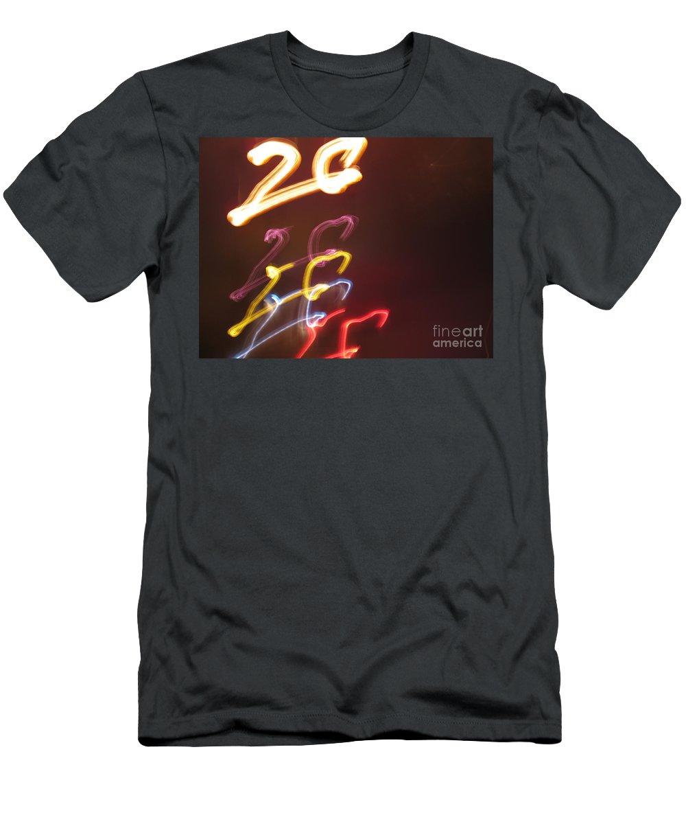 Dancing Lights Men's T-Shirt (Athletic Fit) featuring the photograph Twenty by Ausra Huntington nee Paulauskaite