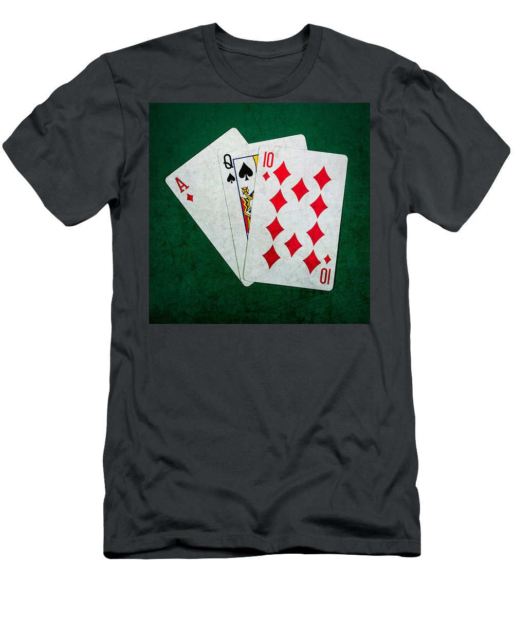 Blackjack Men's T-Shirt (Athletic Fit) featuring the photograph Twenty One 3 - Square by Alexander Senin