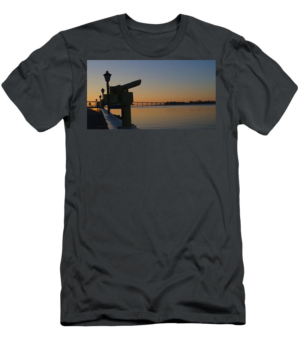 San Diego Men's T-Shirt (Athletic Fit) featuring the photograph Twilight by See My Photos