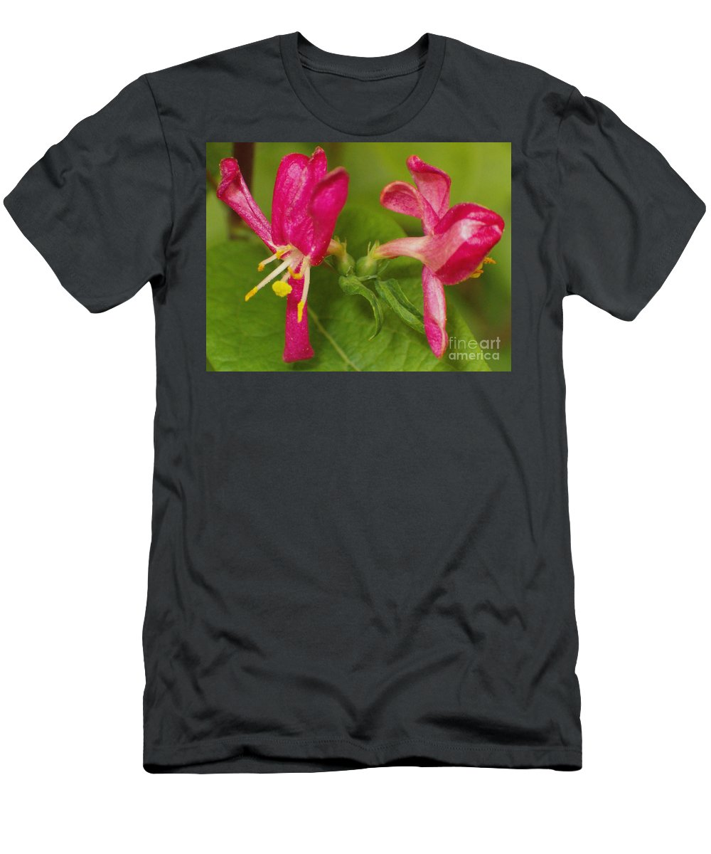 Flower Men's T-Shirt (Athletic Fit) featuring the photograph Twins by Sara Raber