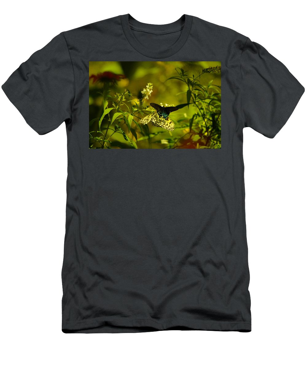 Insects Men's T-Shirt (Athletic Fit) featuring the photograph Two Beautiful Creations by Jeff Swan