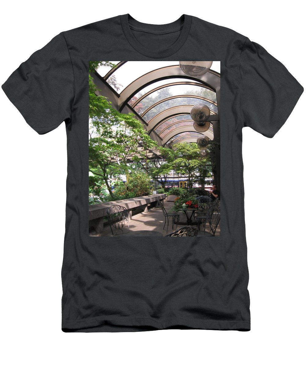 Seattle Men's T-Shirt (Athletic Fit) featuring the photograph Under The Dome by David Trotter