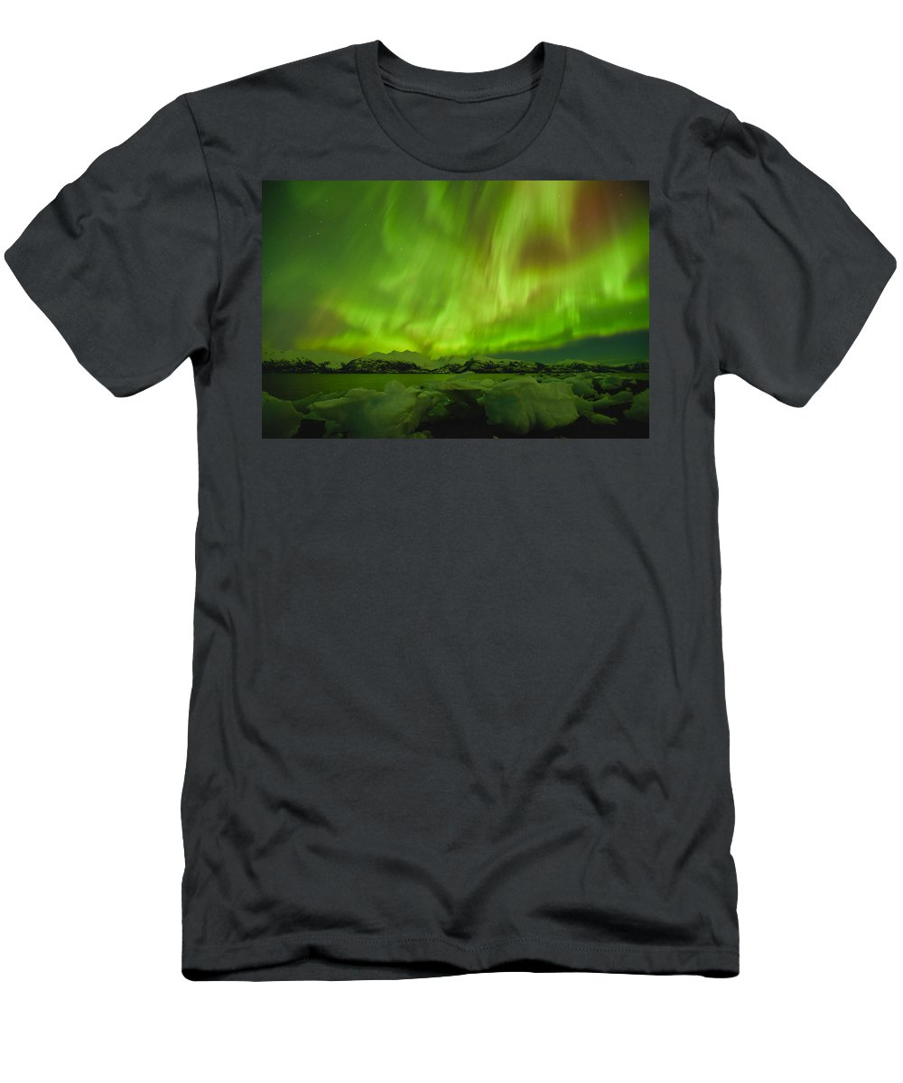 Aurora Men's T-Shirt (Athletic Fit) featuring the photograph Unleashed by Ted Raynor