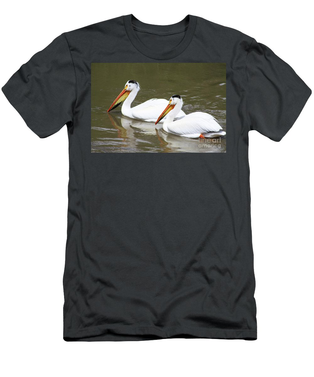 Bird Men's T-Shirt (Athletic Fit) featuring the photograph Up The Oldman by Alyce Taylor
