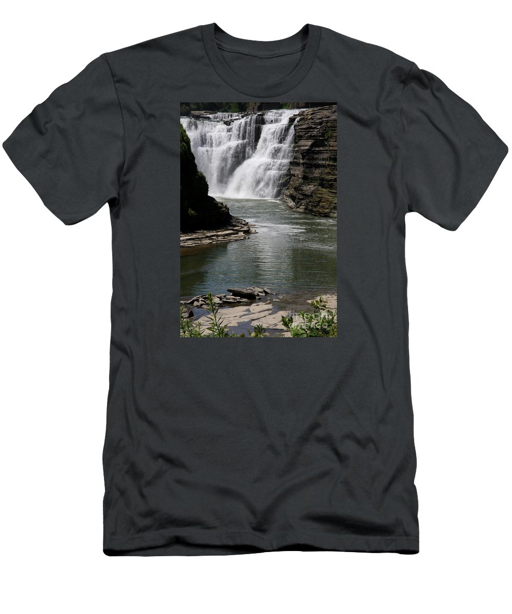 Genesee River T-Shirt featuring the photograph Upper Falls Letchworth State Park by Christiane Schulze Art And Photography