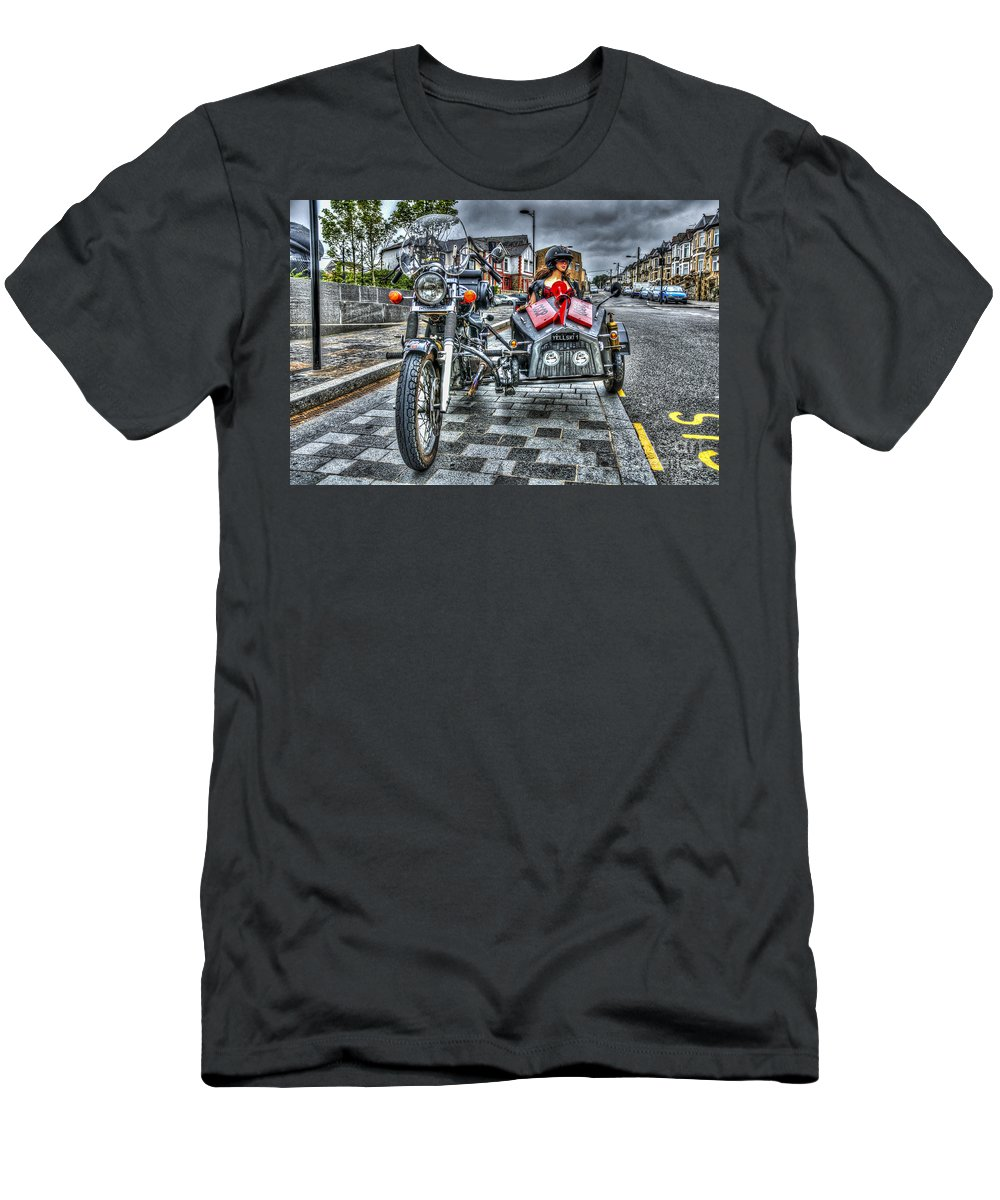 Ural Wolf 750 And Sidecar Men's T-Shirt (Athletic Fit) featuring the photograph Ural Wolf 750 And Sidecar by Steve Purnell