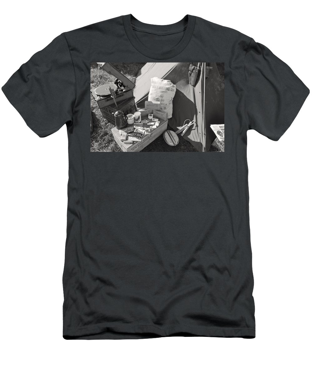 Pot Men's T-Shirt (Athletic Fit) featuring the photograph Us Army Rations by Maj Seda