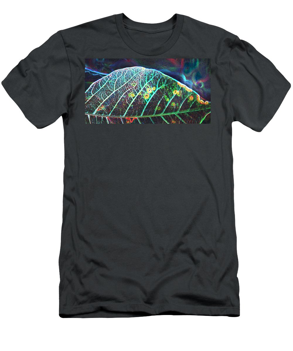 Flowers Men's T-Shirt (Athletic Fit) featuring the photograph Veins Of Color by Heather Coen